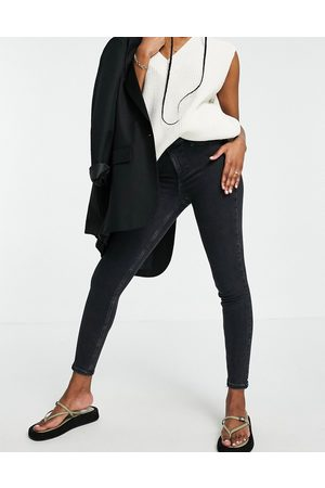 River Island Molly skinny jeans in washed black