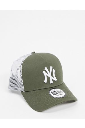 New Era 9forty NY Yankees cap trucker in khaki