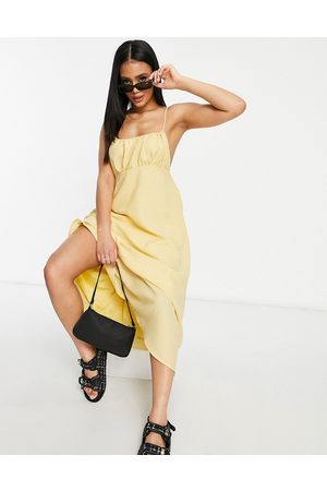 Missguided Women Midi Dresses - Strappy midi dress with gathered bust in