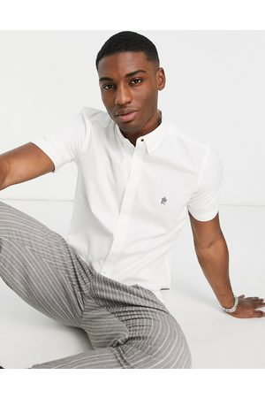 French Connection Men Short sleeves - Short sleeve oxford shirt in