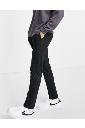 River Island Check jersey joggers in