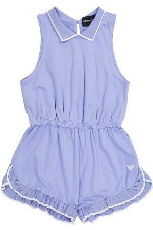 Emporio Armani Ruffle-trimmed playsuit