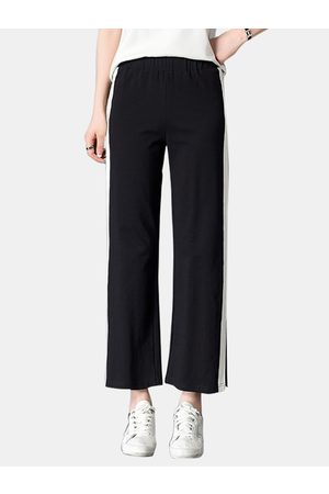 YOINS Active Slit Design Contrast Color High Waisted Pants in