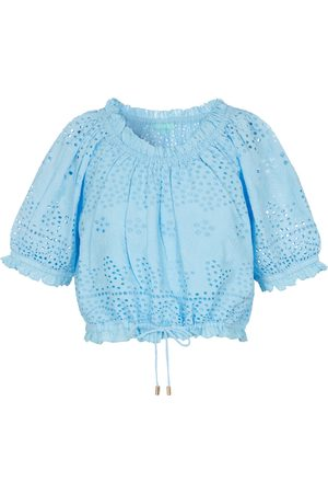 Melissa Odabash Francesca broderie anglaise cotton top