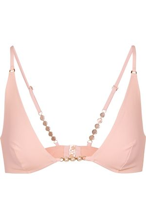 Stella McCartney Exclusive to Mytheresa – Embellished triangle bikini top