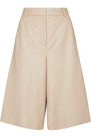 Joseph Teresa leather Bermuda shorts