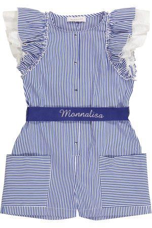 MONNALISA Girls Playsuits - Striped cotton-blend playsuit