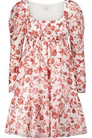 Erdem Women Printed Dresses - Sibyl floral cotton and silk minidress