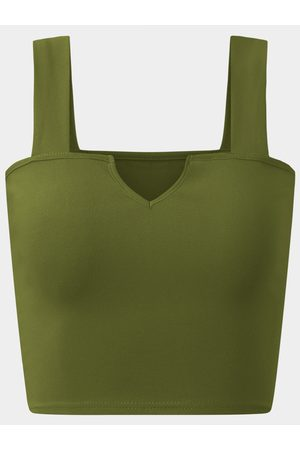 YOINS Women Vests - Active Cut Out Elastic Tank Top In Amry