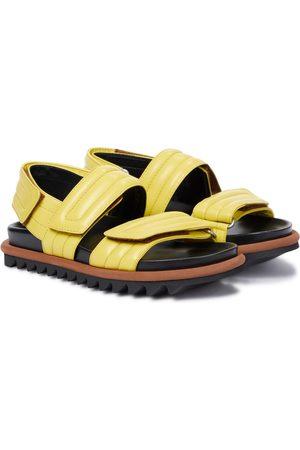 DRIES VAN NOTEN Women Platform Sandals - Leather slingback sandals