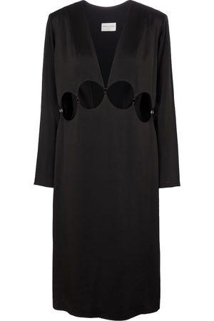 DRIES VAN NOTEN Women Midi Dresses - Cutout satin midi dress