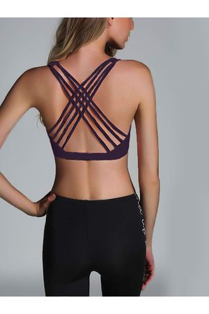 YOINS Criss-cross Design Sports Bra with Padded chest