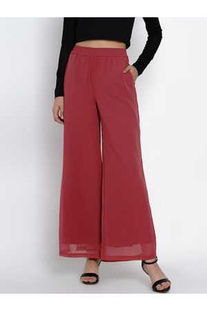 Texco Women Pink Regular Fit Solid Parallel Trousers