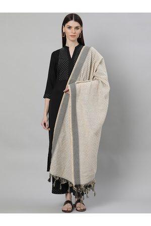 Libas Women Black Yoke Design Kurta with Palazzos & Dupatta