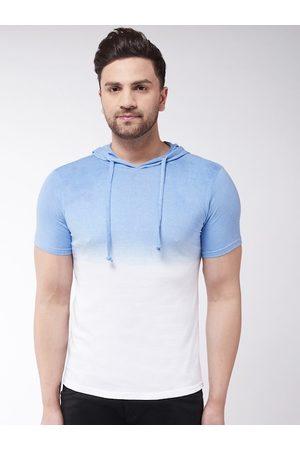 GRITSTONES Men White Dyed Hood T-shirt