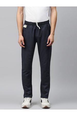 Hubberholme Men Navy Blue Solid Regular Fit Track Pants