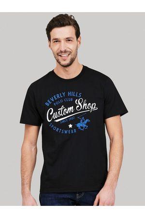 Beverly Hills Polo Club Men Black Printed Round Neck T-shirt