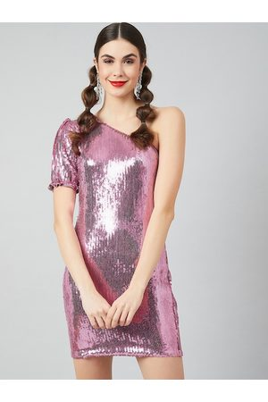 ATHENA Women Pink Embellished Sheath Dress