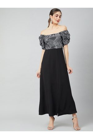ATHENA Women Black Solid Maxi Dress