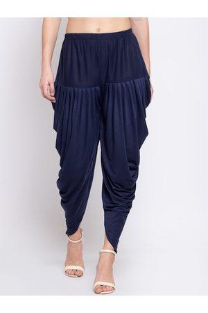 KLOTTHE Women Blue Solid Dhoti Salwar