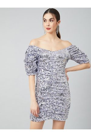 ATHENA Women Lavender Printed Bodycon Dress