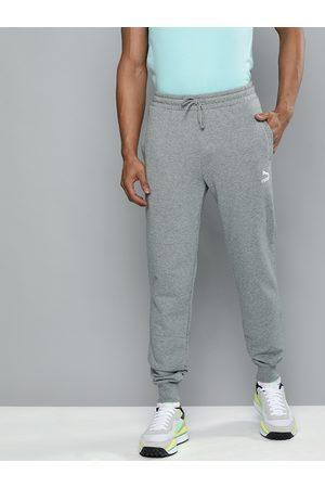 PUMA Men Grey Regular Fit Classics Sweatpants Cuff TR Solid Joggers