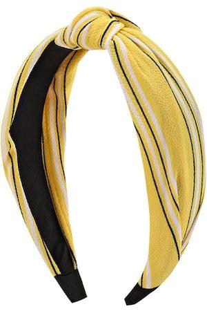 Kazo Yellow & White Stripped Hairband