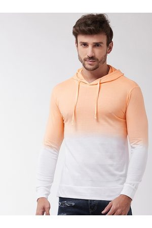 GRITSTONES Men Orange Solid Hood T-shirt