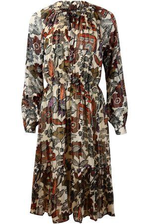 Scotch&Soda Women Printed Dresses - Scotch & Soda Long Sleeve Midi Print Dress