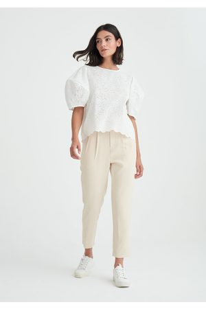 Paisie Embroidered Short Sleeve Top