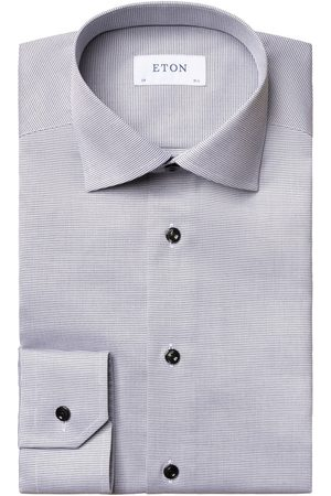 Eton Men T-shirts - Textured Slim Fit Twill Shirt