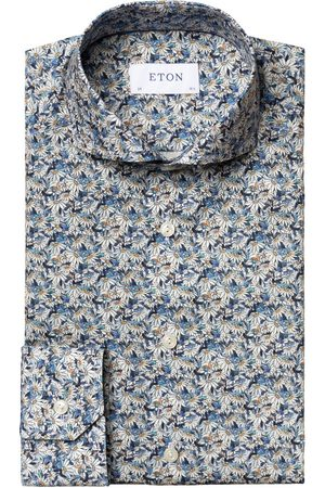 Eton Men T-shirts - Flower Print Slim Fit Shirt