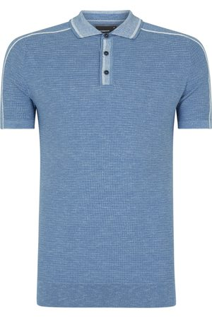 Remus Textured Knitted Polo Shirt