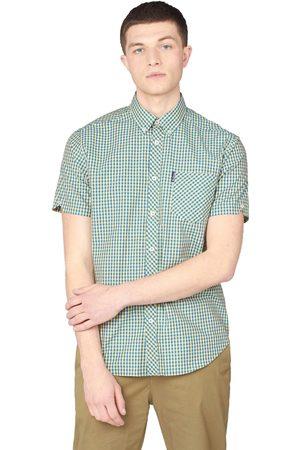 Ben Sherman Men Short Sleeve - And Yellow Checked Short Sleeved Shirt