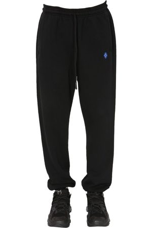 MARCELO BURLON Men Joggers - MEN'S CMCH025S21FLE0011020 OTHER MATERIALS JOGGERS