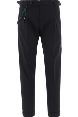 Berwich Men Formal Trousers - MEN'S FA1755XBLACK WOOL PANTS