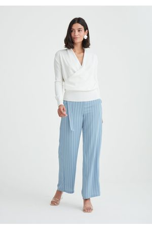 Paisie Striped Wide Leg Trousers