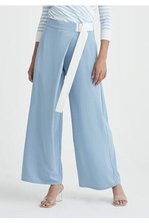 Paisie Women Wide Leg Trousers - Bloomsbury Wrap Wide Leg Trousers