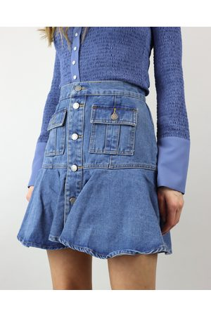 C/meo Collective Women Mini Skirts - Denim Facility Mini Skirt