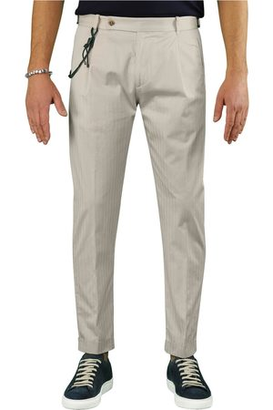 Berwich Men Chinos - RETRO SOLARO CREAM CHINO TROUSERS