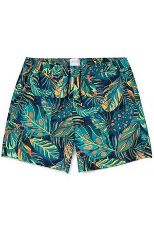 Sunspel Men Swim Shorts - Swimshort - Liberty Rainforest Navy