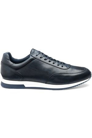 Loake Men Sneakers - Bannister Calf Leather Navy Trainer Shoe