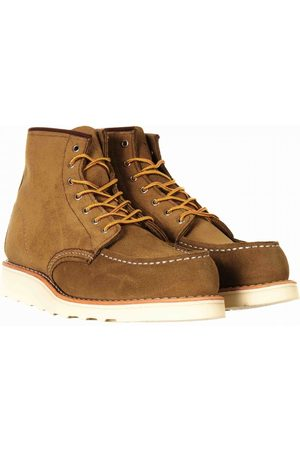 """Red Wing Women's 3377 Heritage 6"""" Moc Toe Boot - Olive Mohave Leather"""