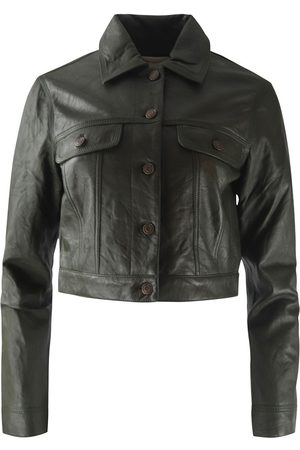 Michael Kors Women Leather Jackets - Leather Denim Jacket