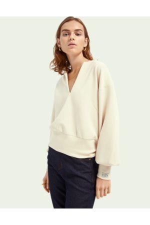 Scotch&Soda Voluminous sleeved soft sweater - Ecru