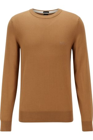HUGO BOSS PACAS-L Beige Crew-Neck Sweater in Italian Cotton 50450180