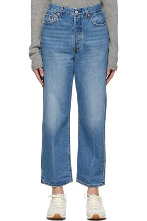 Women Straight - Levi's Blue Ribcage Straight Ankle Jeans