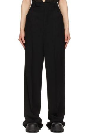 Women Formal Trousers - Rick Owens Wool Crepe Colbert Trousers