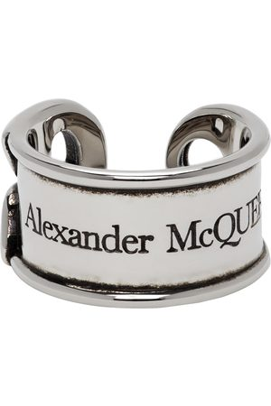 Men Rings - Alexander McQueen Silver Safety Pin Ring