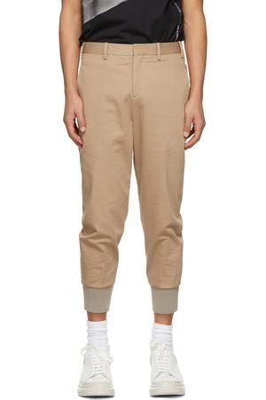 Men Slim Trousers - Neil Barrett Brown Travel Slim Low Rise Trousers